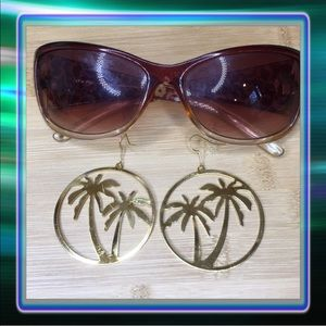Palm Tree / Coconut Tree Earrings